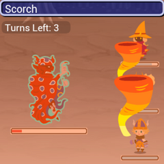 Rubicante using Scorch in <i><a href=