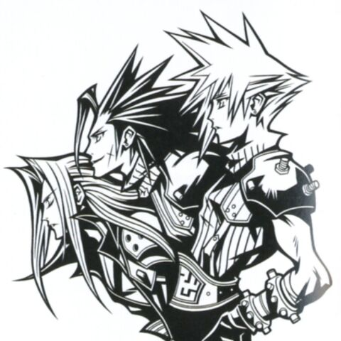 <i>FFVII</i> 10th Anniversary artwork.
