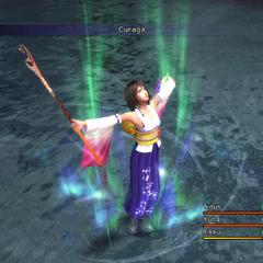 Yuna casting White Magic in <i><a href=