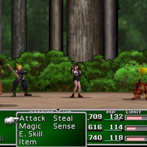 Mystery Ninja in battle.