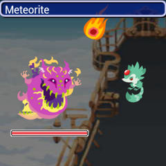 Meteorite in battle.