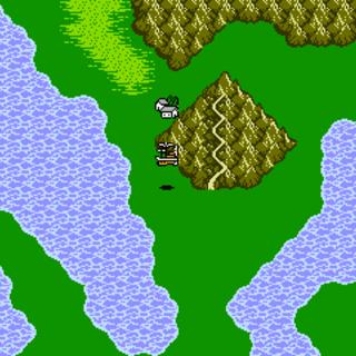 Dragon's Peak on the World Map (NES).