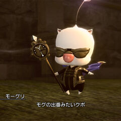 Mog in the Fashionista DLC outfit.