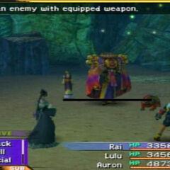 Yojimbo in battle.