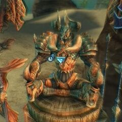 Chaos summoned to battle in <i>Final Fantasy XII</i>.