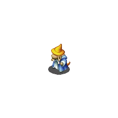 Nu Mou Black Mage sprite in <i>Final Fantasy Tactics S</i>.
