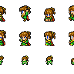 Set of Palom's sprites.