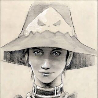 Azima, an NPC who can use Blue Magic.