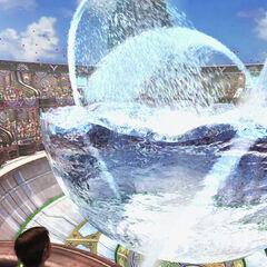 A Water Sphere being filled for <a href=