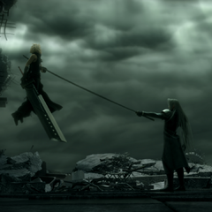 Cloud's revised impalement in <i>Advent Children Complete</i>