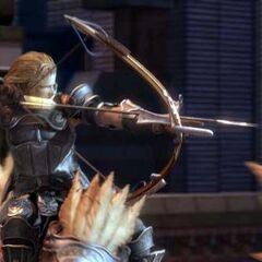 Basch riding a chocobo during an FMV in <i>Final Fantasy XII</i>.