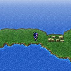 Mysidia on the world map (PSP).