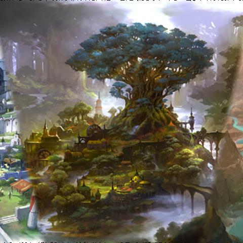 Artwork of Lavender Hills.