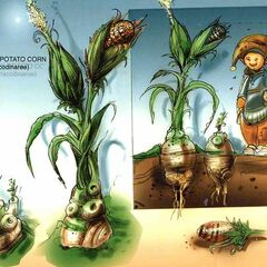 Concept art of the corn grown in Dali.