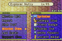 FFTA Mission Item Menu
