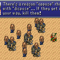 Kefka and his army marching towards Narshe.