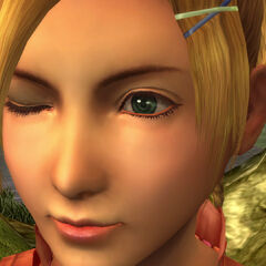 Rikku's distinctive Al Bhed eye.