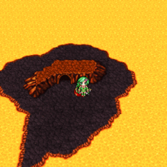 The island on the world map (PSP).