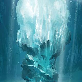 Ice block.