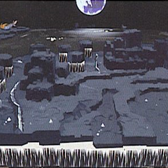 The <i>Lunar Whale</i> in Lunar Subterrane concept art for <i>Dissidia</i>.