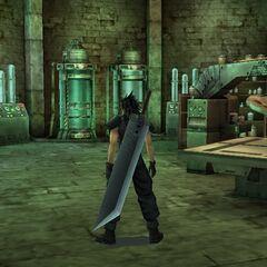 The basement facility in <i>Crisis Core -Final Fantasy VII-</i>.