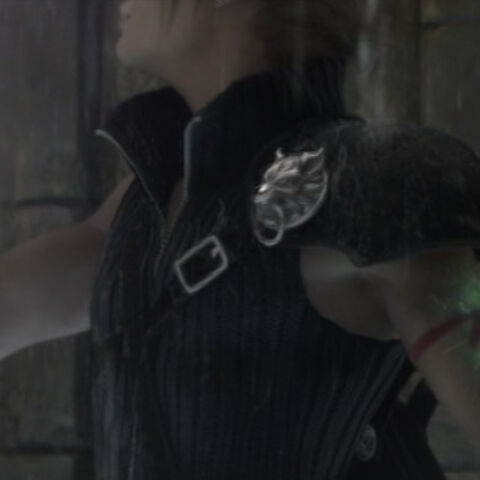 Cloud's infection healed by Aerith's Healing Rain.