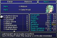 FFVI GBA Relic Menu