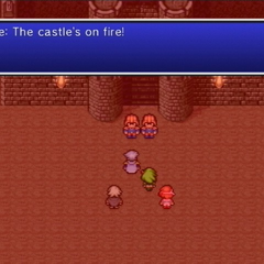 Edge arriving at the castle