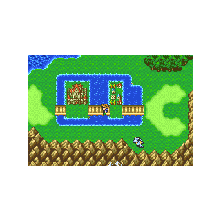 Walse on the World Map in Bartz's World (GBA).