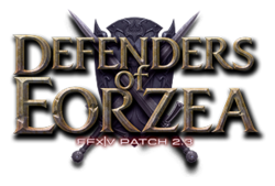 Логотип Defenders of Eorzea.