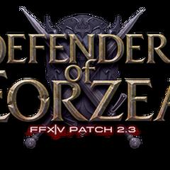 <i>Defenders of Eorzea</i> (2.3) logo.
