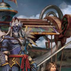 Kimahri Ronso, guardian of Summoner Yuna.
