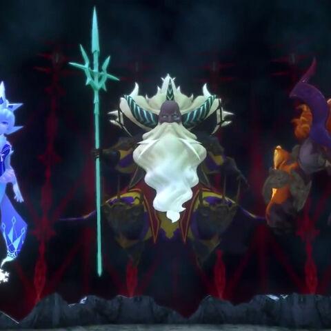 Shiva, Ramuh, and Ifrit.