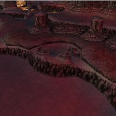 The ruins of Onrac in World B in <i>Dissidia 012 Final Fantasy</i>.