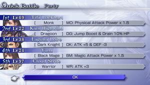 Quick battle party