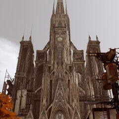 Exterion of the Cathedral in <i>Lightning Returns: Final Fantasy XIII</i>.
