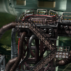 Stairs leading to the controls in Midgar.
