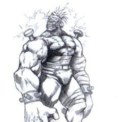 Artwork of Death Gigas by Tetsuya Nomura.