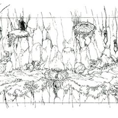 Concept art of the second area.