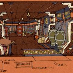 Cabin concept artwork.