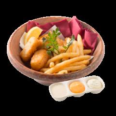 Fish and chips of Mahi-mahi