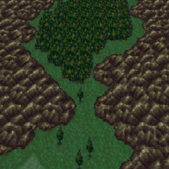 The Phantom Forest as it appears on the World Map (SNES).