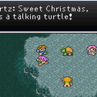 Bartz learns of Ghido's sagacity (GBA).