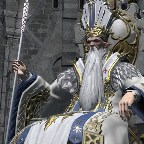 Thordan VII on his throne.