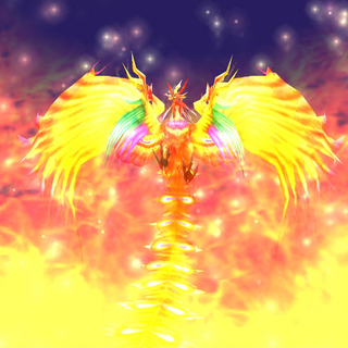 Phoenix's summon animation.