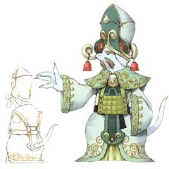 Concept artwork of the King of Burmecia and other citizens.