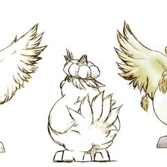Fat Chocobo concept art.