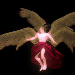 Трехмерное CG изображение Кефки в его форме Бога Магии.