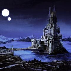 Concept artwork of Baron at night.