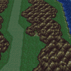 The Returner Hideout on the world map (SNES).